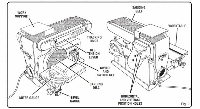 disc sander parts